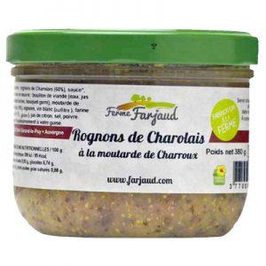 rognons de charolais à la moutarde de Charroux