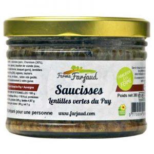 Saucisses aux lentilles vertes du Puy