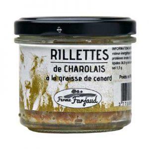 rillettes de charolais cuites à la graisse de canard