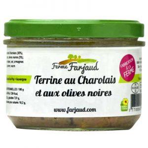 terrine au charolais et olives noires