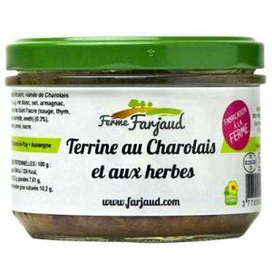 terrine au charolais et aux herbes